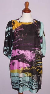 Image of See By Chloe Silk Photo Print Dress
