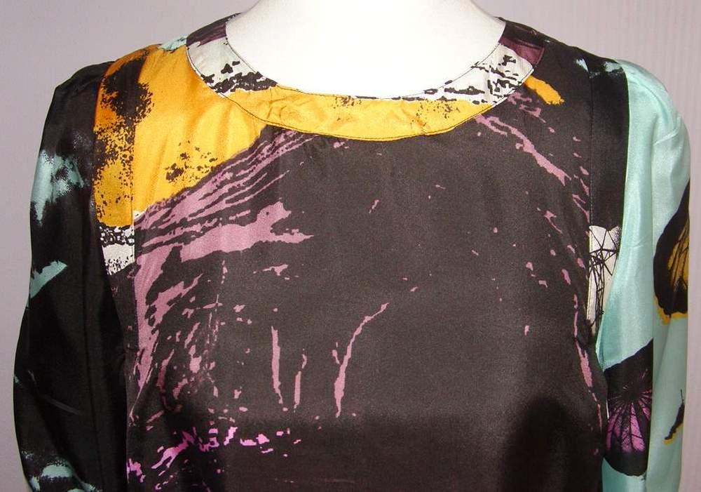 Image of See By Chloe Silk Photo Print Dress