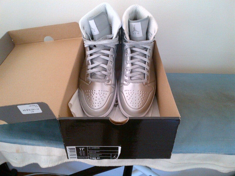 new products ed2ff 214aa ... coupon code for image of air jordan 1 anodized metallic silver 5501e  09e53
