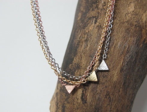 Image of ALIYA TRIANGLE NECKLACE