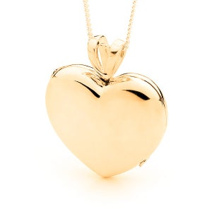 Image of Heart Locket - Classic in 9ct Yellow Gold