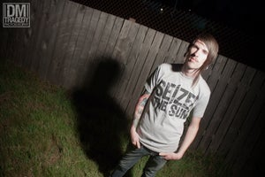 Image of Seize the Sun | Logo on Gray Shirt