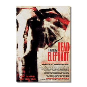 Image of DEAD ELEPHANT 'Thanatology' Album Poster (A3)