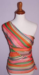 Image of Missoni Multi-Color Asymmetrical Sash Top