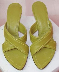Image of Yves Saint Laurent Citrus Green Mule