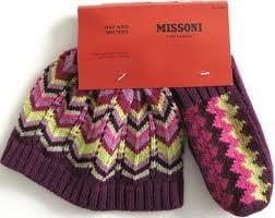 Image of Rare Missoni Toddler Hat & Glove Set