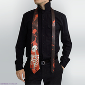 Image of Carmen Skeleton Men's Tie