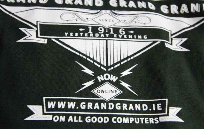 Image of 'KEEP GOING SURE IT'S GRAND' forest green T-shirt