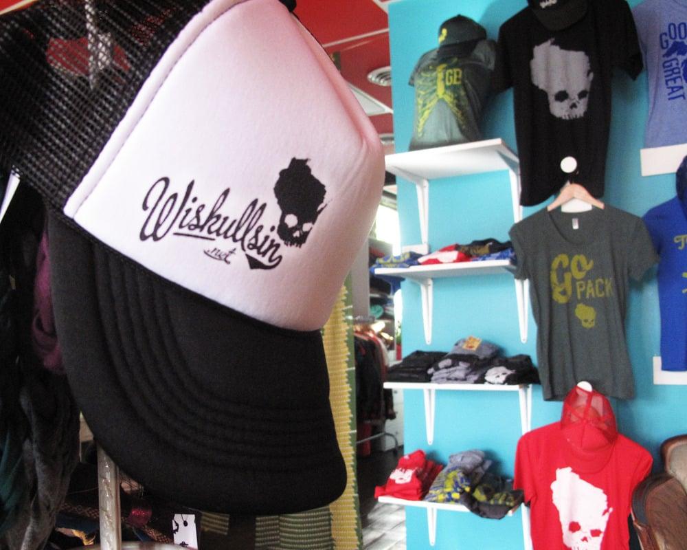 Image of Wiskullsin Hat (Black/White)
