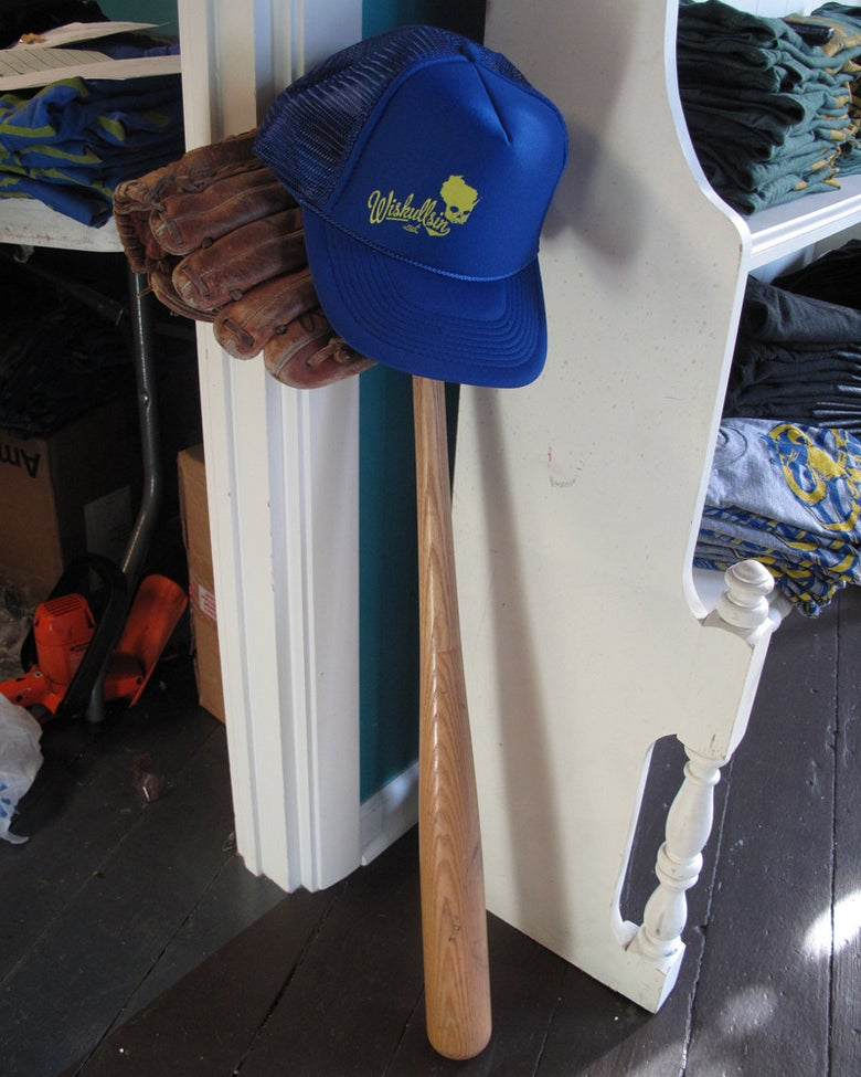 Image of Wiskullsin Hat (Blue/Yellow)