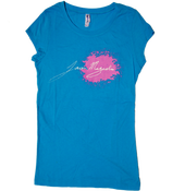 "Image of Women's Turquoise ""JMag Signature"" Tee"