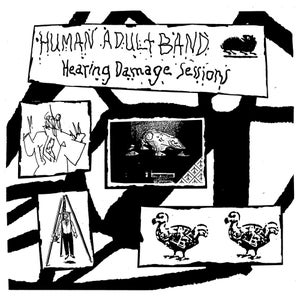 "Image of Human Adult Band ""Hearing Damage Sessions"" LP"