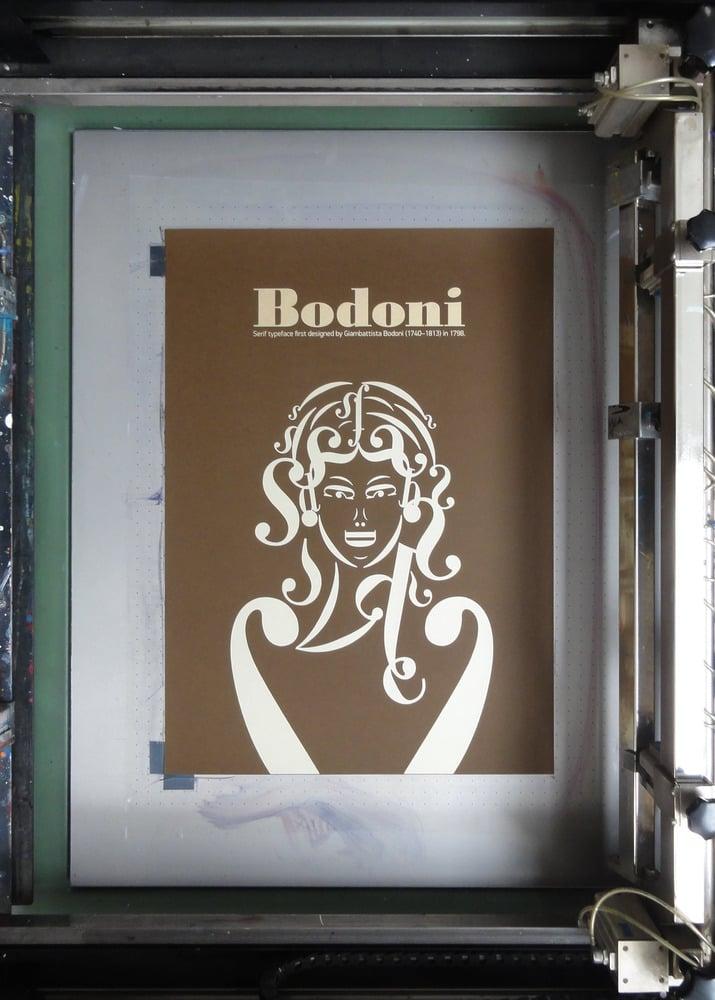 Image of Bodoni Typographic Poster