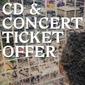 Image of cut price CD + ticket bundle