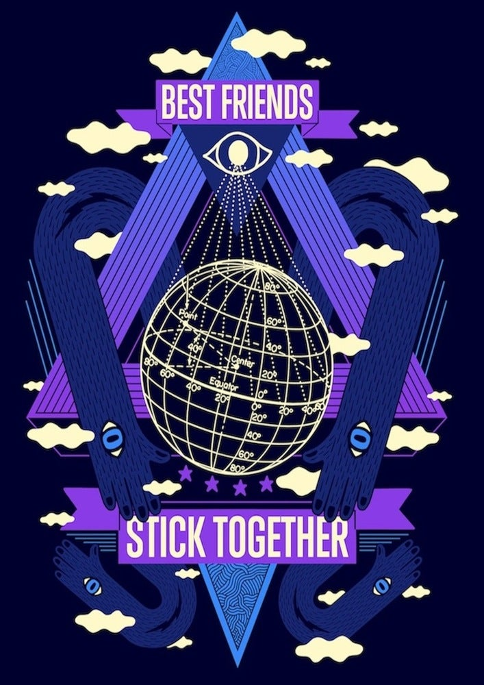 Image of best friends stick together // organic