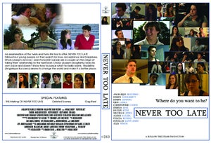 """Image of """"Never Too Late"""" DVD"""