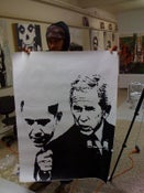 Image of bush obama mask poster
