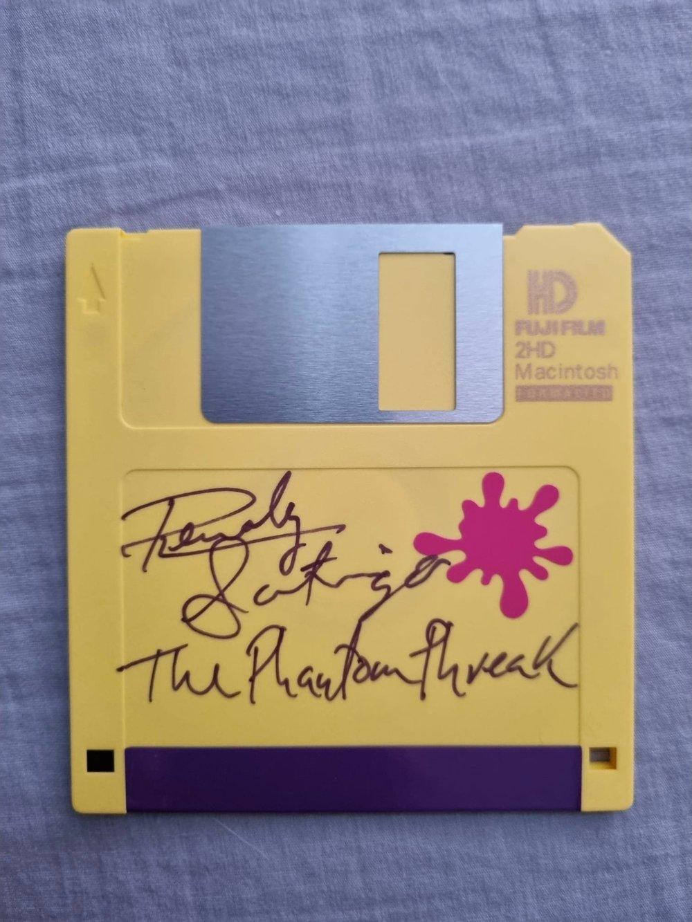 Renoly Santiago Signed Hackers Floppy Disk