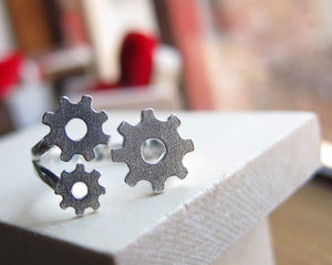 Image of Gears Ring  - Handmade Silver Ring