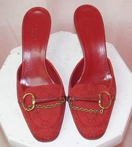 Image of Gucci Mules With Chain Detail