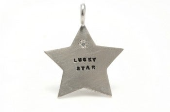 Image of Silver Star with a diamond charm (multiple options)
