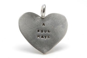 Image of Silver A Soul Mate charm