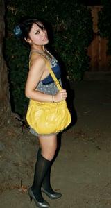 Image of Yellow Bowtie Purse