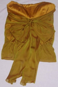 Image of KaufmanFranco Gold Sleeveless Chiffon Blouse