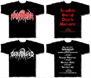 Image of DERANGED - RED LOGO/WHITE LOGO T-SHIRTS