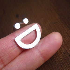 Image of Happy Face Ring :D - Handmade Silver Ring