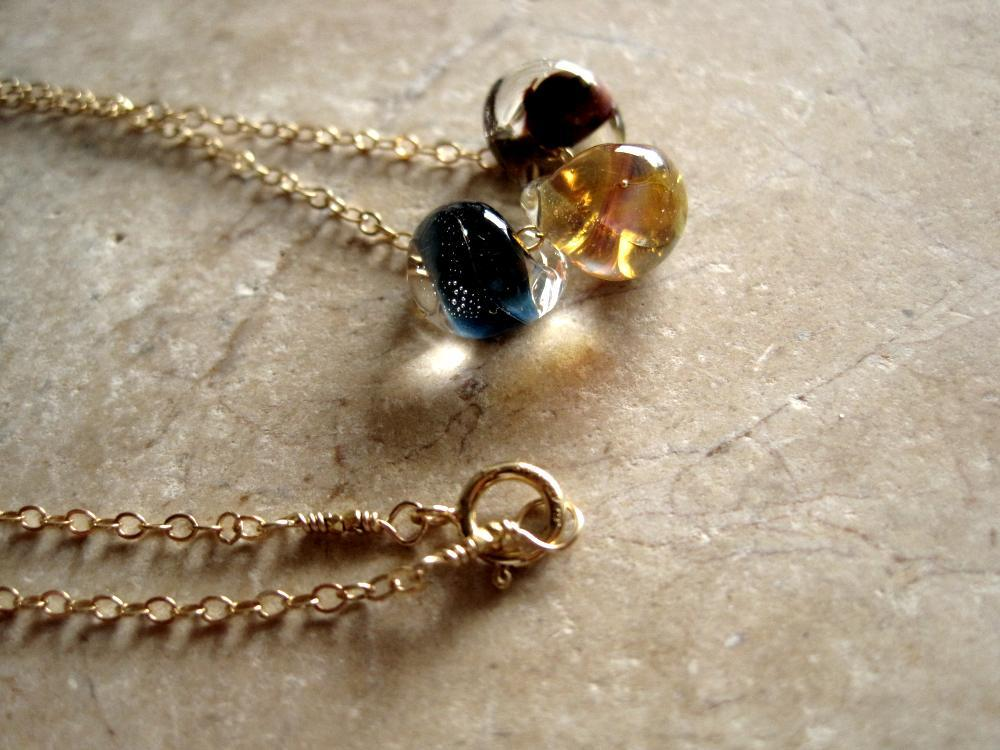 Image of Lampwork glass bead necklace - Elements
