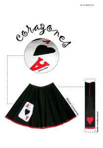 "Image of ""As de Corazones"" (skirt)"