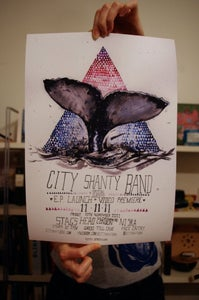 Image of A3 EP Launch Night Poster