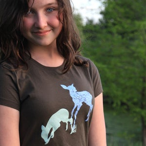 Image of Deer Tshirt - Woman or Girl