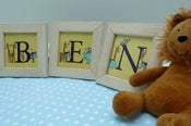 Image of Cute individual  framed animal letters