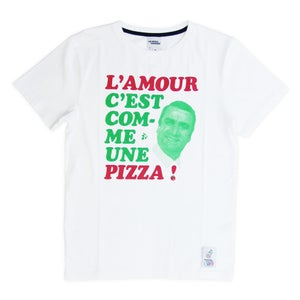 Image of T-Shirt L'Amour C'est Comme Une Pizza (designed by Fake)