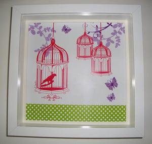 Image of Birdcages Framed