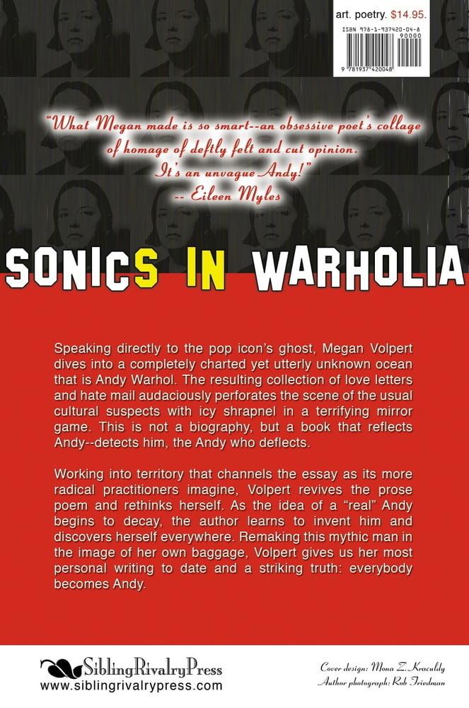 Image of Sonics in Warholia by Megan Volpert (eBOOK)