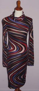 Image of Patrizia Pepe Swirl Multi-Color Club Dress