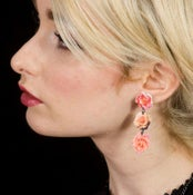 Image of Forever Flowers Earrings (on white acrylic)