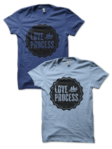 Image of LOVE the PROCESS shirt - Lapis or Baby Blue