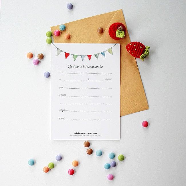 Image of Carte d'invitation fille