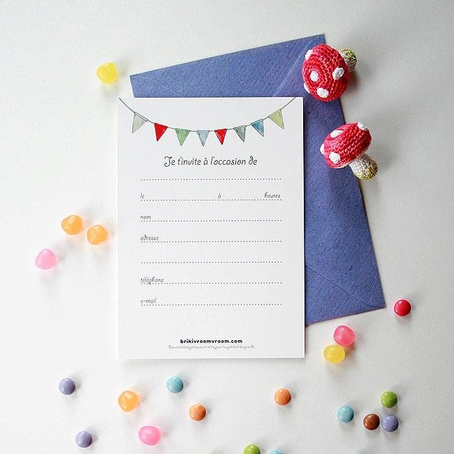 Image of Carte d'invitation garçon