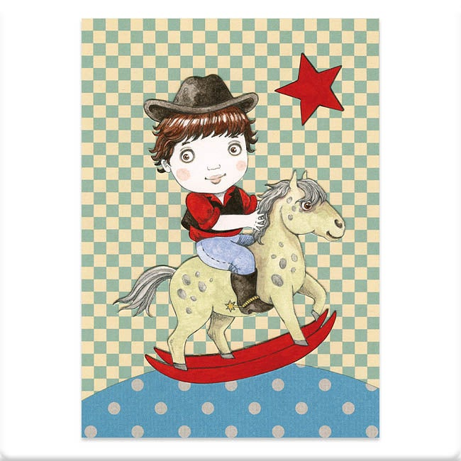 Image of Carte postale petit cowboy