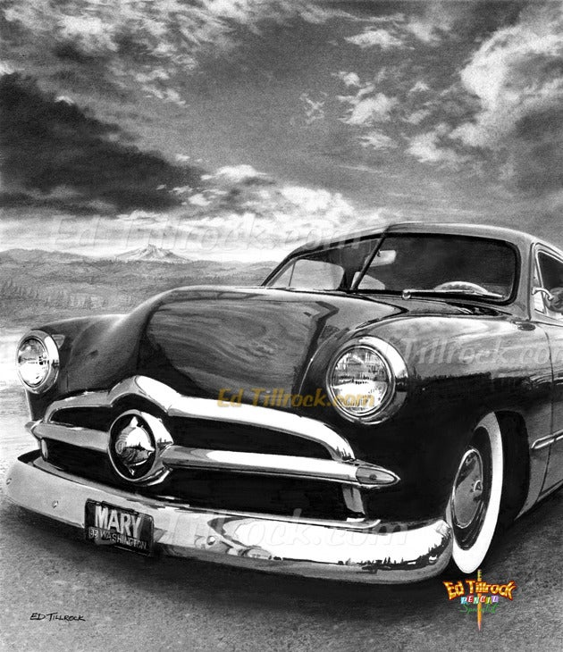 "Image of ""49 Ford"" 11x17 print"