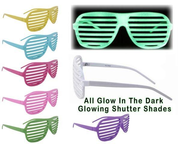 Hollywood Designs Glow In The Dark Shutter Shades