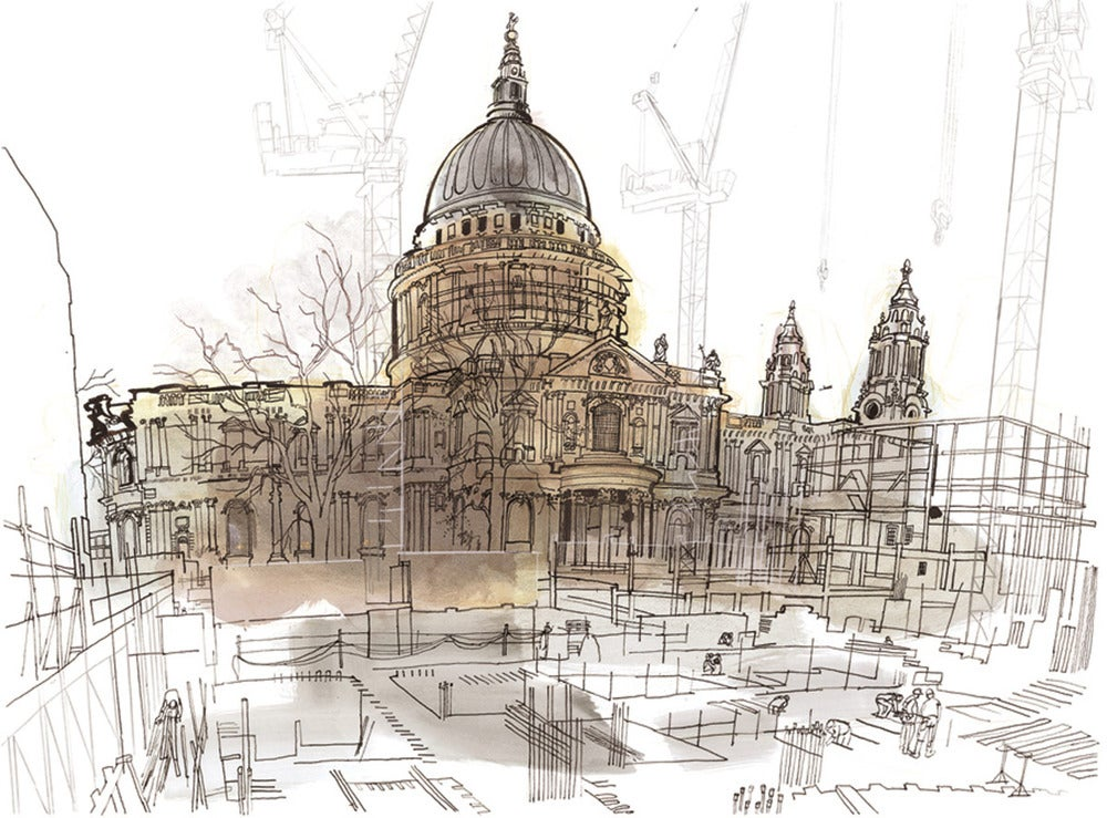 Image of The north side of St Paul's Print