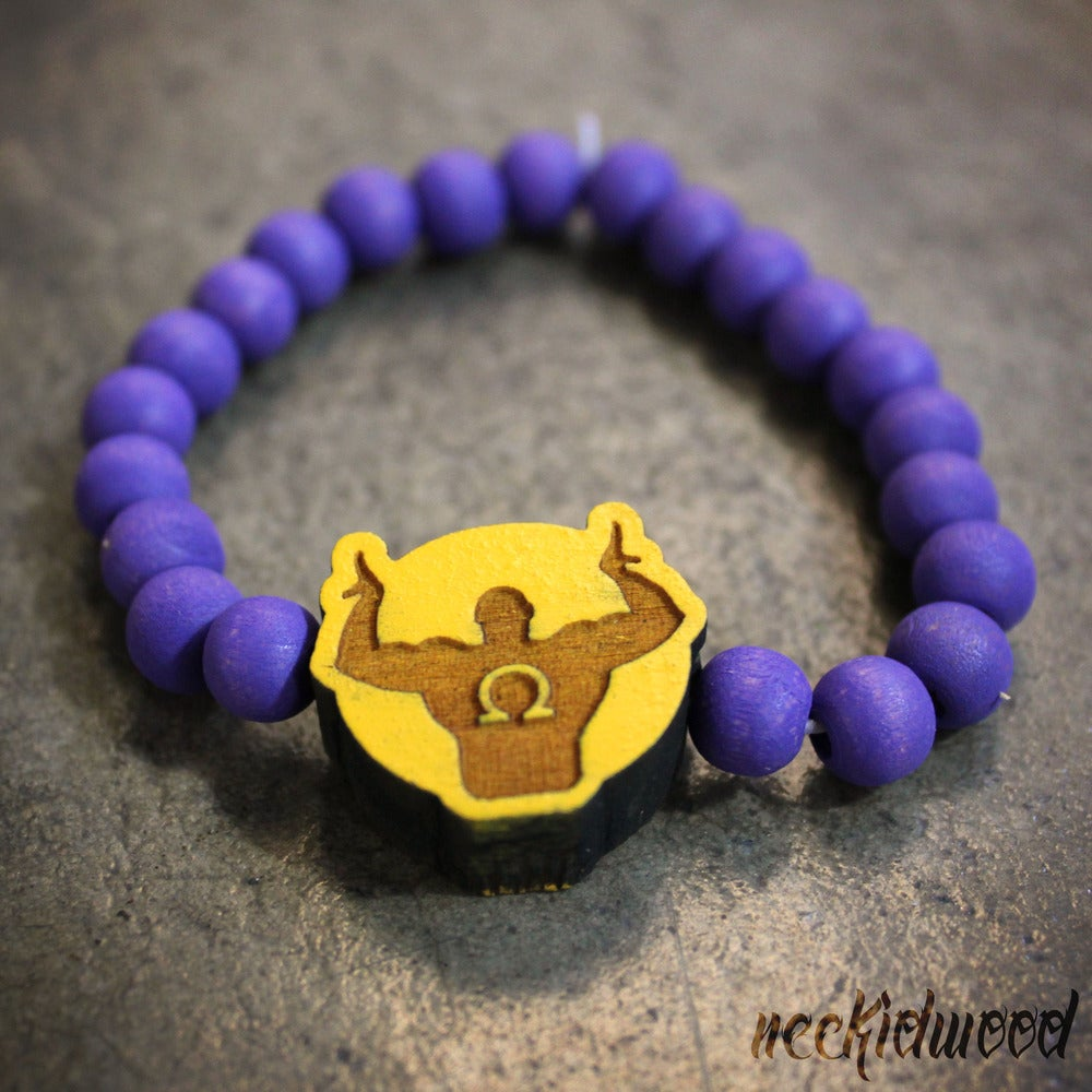 Image of Omega Psi Phi Sign Bracelet