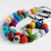 Image of felt ball necklace