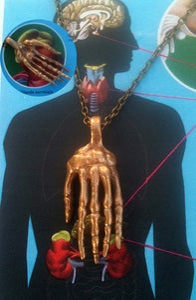 Image of Main squelette pendentif